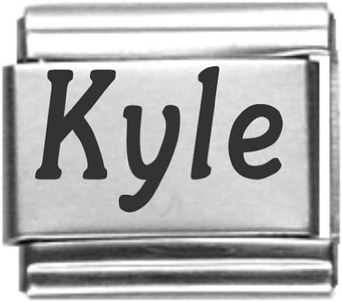 Kyle Laser Name Italian Charm Link