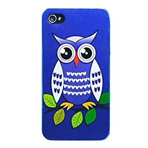 Cartoon Owl Back Case for iPhone 4/4S