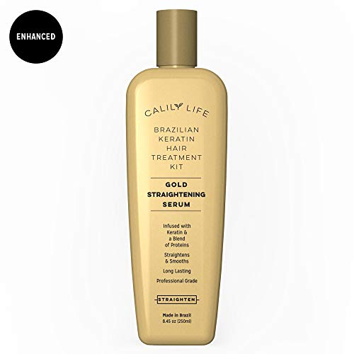 Brazilian Keratin Hair Treatment by Calily Life Professional Grade Blowout Straightening Serum Infused with a Keratin-rich Blend of Proteins and Luxurious Fragrance - 250ml