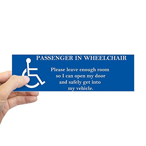 CafePress Passenger in Wheelchair 10X3 Magnet Bumper Sticker 10