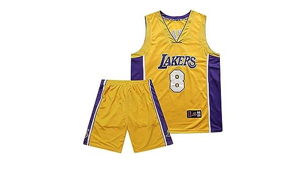 Hanbao Bordado Maillots de Baloncesto - NBA Lakers Kobe Bryant #8 ...