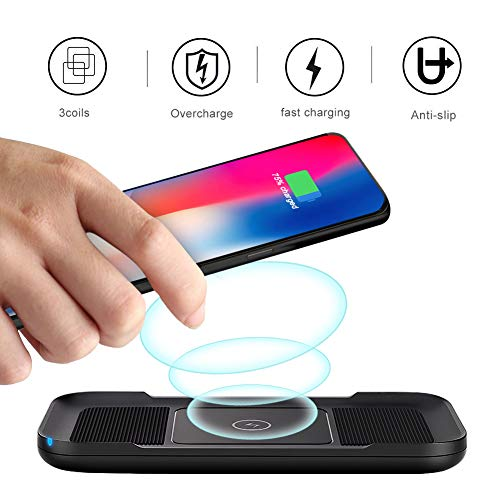 ARINO Wireless Phone Charger Qi Fast Wireless Charging Pad Portable Anti-Slip 10W 7.5W 5W Compatible for iPhone X/8/8 Plus Samsung Galaxy S9/S9 Plus/Note 8/ S8/S8 Plus, and All Qi-Enabled Smartphone