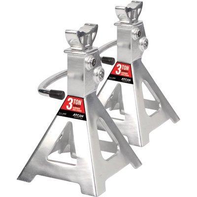 Arcan Aluminum Jack Stands - 3-Ton Capacity, Pair, Model# AJS3T
