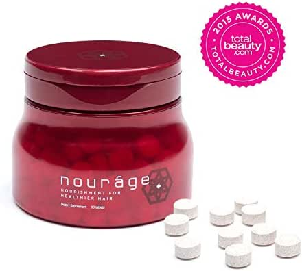 Nouráge Hair Growth Daily Vitamins 1-Month Supply - The Best Supplement Tablets for Thinning & Hair Loss/Thicker Hair Regrowth for Women & Men/Stronger, Shinier, Healthier Hair in 90 Days