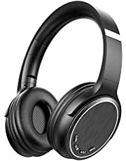 Wireless Bluetooth 4.2 Kopfhörer Over Ear Headset, Over Ear Kopfhörer mit Mikrofon mit 3,5 mm Aux, Zusammenklappbarer Kopfhörer für Handy/Tablets/PC/TV von XXWECO