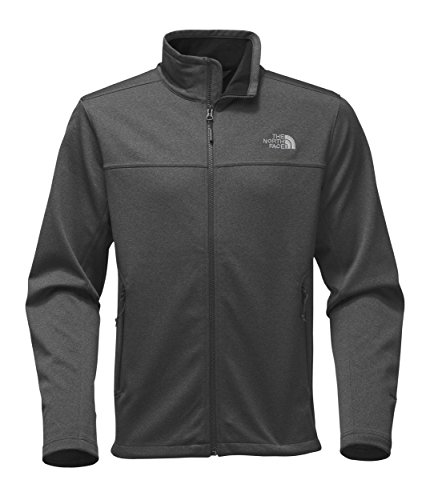 Mens North Face Denali Jacket - The North Face Men's Apex Canyonwall Jacket - TNF Dark Grey Heather & TNF Dark Grey Heather - XL