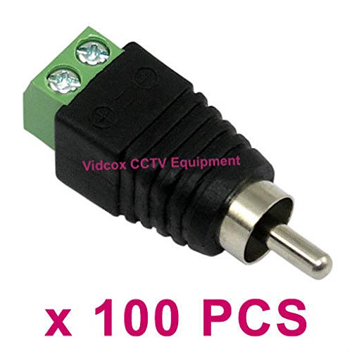 - FidgetFidget Cable to AV Phono Male RCA Connector Jack Plug for CCTV 100x UTP RJ45 CAT5 CAT6