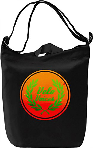 Velo Voices Borsa Giornaliera Canvas Canvas Day Bag| 100% Premium Cotton Canvas| DTG Printing|