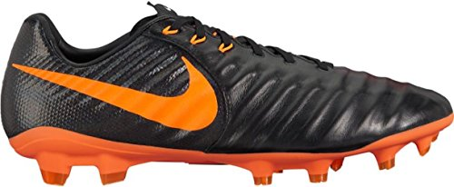 NIKE Men's Tiempo Legend 7 Pro FG Soccer Cleat (SZ. 9.5) Black, Total Orange - Nike Mens Tiempo Legend
