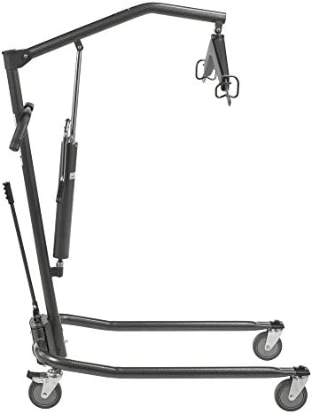 Drive Medical Hydraulic Patient Lift | Six Point Cradle, 5-Inch Casters | Silver Vein 41GbX1v3iML