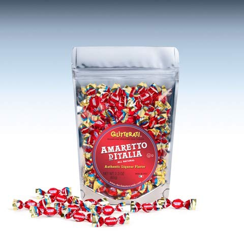 Glitterati AMARETTO D'ITALIA - Famous Miniature Hard Candies (65 Ct. Pouch)