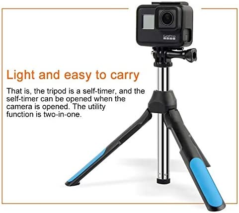 Bluetooth Removed Control Structured Tripod Selfie Stick for Sports Camera // 4-6 inch Phones Color : Blue Blue ZMKK Sizing:19-93cm