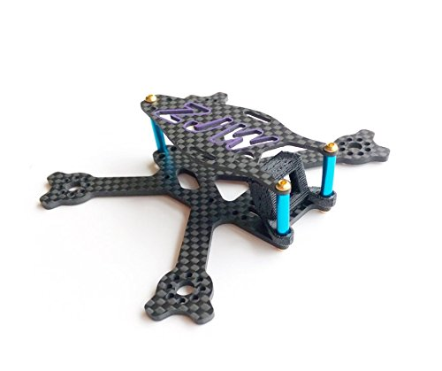 usmile 95mm Micro Carbon Fiber Quadcopter Frame for FPV Quad racing Support 1103 1104 Brushless motors 2020 2025 mounting holes Support M3 mounting FC