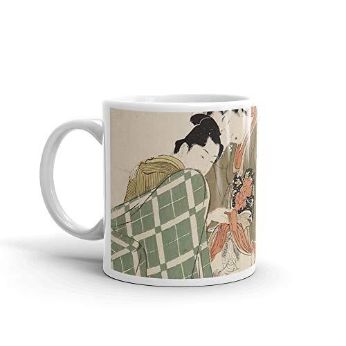 rangerpolocon UTAMARO, THREE SHUNGA WOODBLOCK PRINTS BY UTAMARO 11Oz Ceramic Coffee Mugs Cup Tea Gift For Coffee Lover