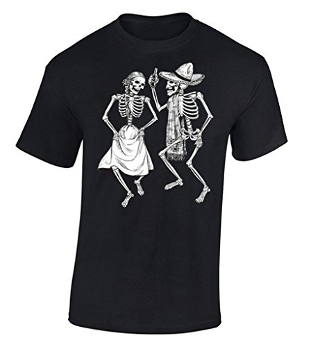 Raxo Dancing Skeletons T-shirt Day Of Dead Halloween Dia De Los Muertos Shirt