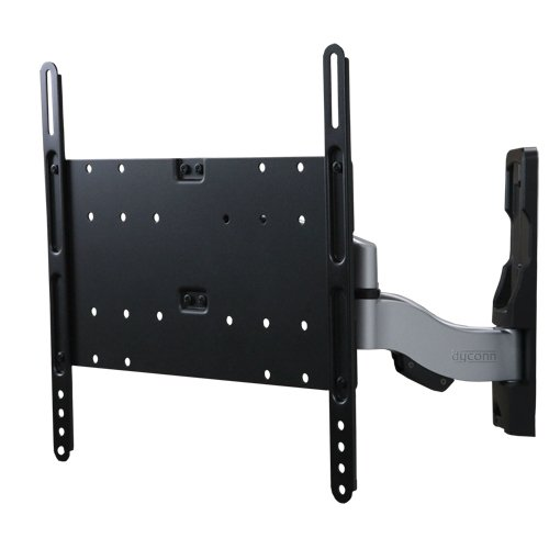 Dyconn Invisible XL IN442 Ultra Slim Low Profile Articulating LCD LED PLASMA Dual Arm Wall Mount for 26-Inch to 52-Inch TVs, Panels, Screens, Displays, Supports up to VESA 400 x 400 with Cable Mangement - Slim Profile from Wall
