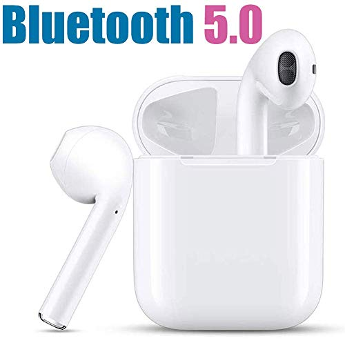 Wireless Earbuds, Bluetooth 5.0 Headphones True Wireless HD Stereo Sound Earbuds, in-Ear Headset 30h Playtime with Built-in Microphone Portable Charging Case
