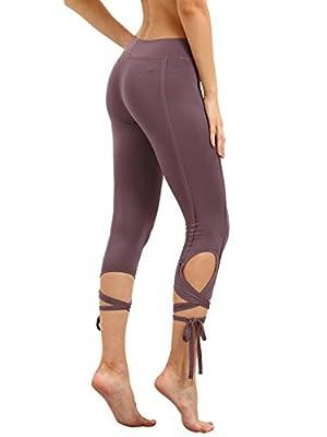 SweatyRocks Women Legging Cutout Tie Cuff Slim Yoga Pants Jogger Workout Tights