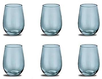 Prime Versand Design Trinkglas Farbe Aquamarine Universalglas