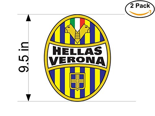 Hellas Verona 1903 FC Italy Soccer Football Club FC 2 Stickers Car Bumper Window Sticker Decal Huge 9.5 inches by CanvasByLam