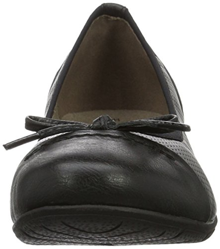 Softline Women's 22168 Ballet Flats Black (Black Comb. 098) SKkYE