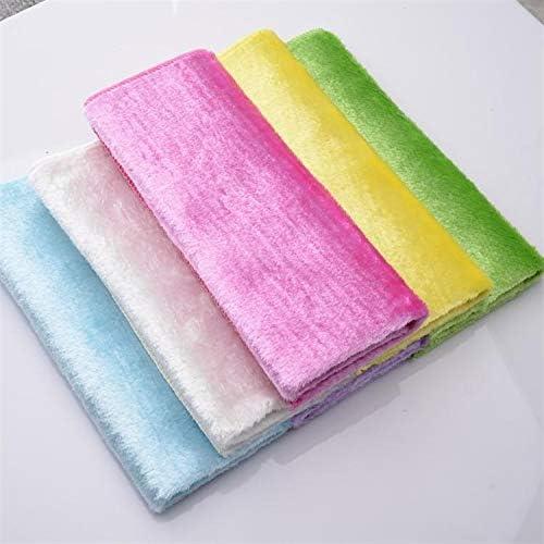 スポンジ ウォッシュ布非木材繊維キッチンタオルマジックは、台所の布洗浄布ダブルパッケージ2を精練油を塗りました (Color : Random mixed shipment, Size : 23x18)