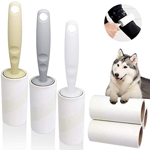Lint Roller Pet Hair Remover Fur Tape Roller Sticky Hair Remover for Clothes Dog Hair - 6 Pack