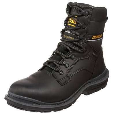 "Caterpillar Men's Generator 8"" Waterproof Steel Toe Boot,Black,7 M US"