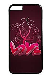 3D Heart And Tree Custom iphone 6 plus 5.5inch Case Cover Polycarbonate black
