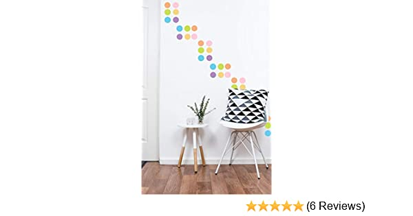 220 2 inch Decals Easy Peel and Stick Matte Finish Removable Decals Safe on Painted Walls Polka Dot Wall Decals Multicolor Pastel