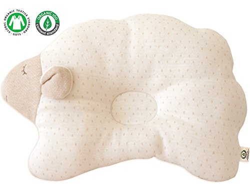 Protective Pillow Prevent from flat head (Cloud Lamb ( Choco Dot )) (Baby Nursery Pillow)