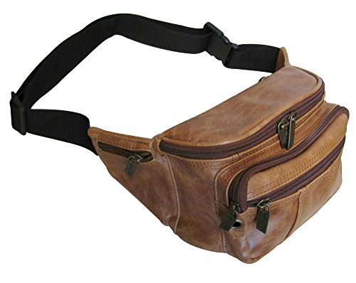 AmeriLeather Easy Traveller Fanny Pack (Lime) by Amerileather (Image #2)'