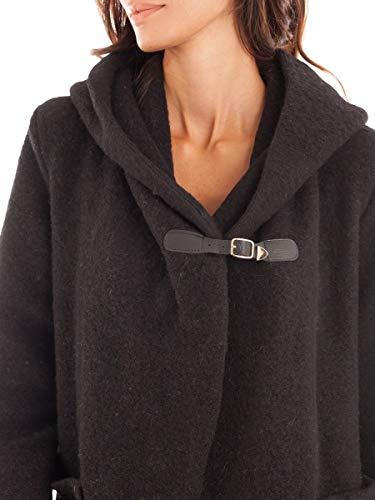 Femme Noir Capuche Le Manteau Comptoir Du Doucel Long c7wPgqz7B