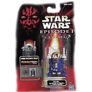 Star Wars Episode I Commtech Chip R2-b1 Astromech Droid with Power Harness Collectible - Star Commtech Figure Chip Wars