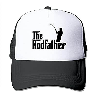 whyduiwo The Rodfather Funny Fishing Trucker Mesh Cap Adjustable Cool Hat
