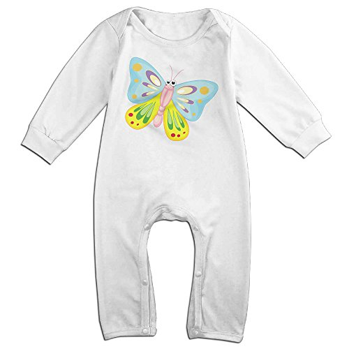Haru Buttlefly Newborn Babys Long Sleeve Romper Bodysuit Outfits White 24 Months (Shopkins Juicer compare prices)