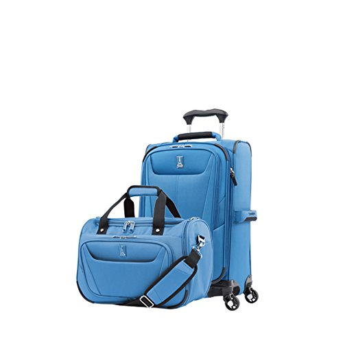 - Travelpro Luggage Maxlite 5 | 2-Piece Set | Soft Tote and 21-Inch Spinner (Azure Blue)