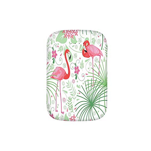 Floral Pattern Flamingo Botany Greenery Floral Romantic Feminine Portable Charger 6000mAh Power Bank External Battery Backup Pack Fast Charger for iPhone,Samsung Galaxy and More