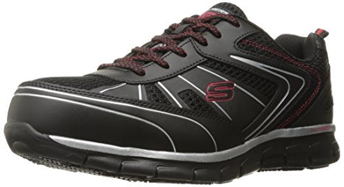 Skechers Hommes De Synergie Noire De Chaussures De Travail Fosston / Rouge