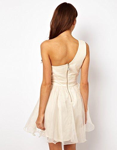 Lipsy VIP Embellished Waist Organza One Shoulder Prom Dress (UK 14): Amazon.co.uk: Clothing
