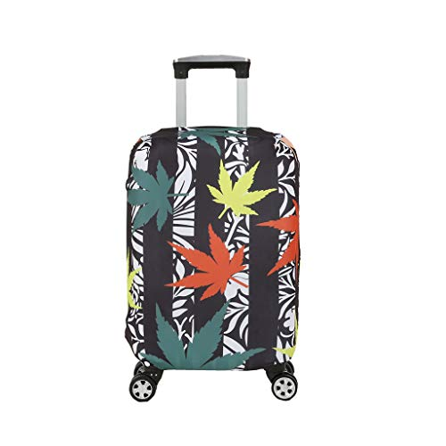 Fvstar Marijuana leaves Washable Travel Luggage Cover Spandex Suitcase Cove Protector Baggage Covers