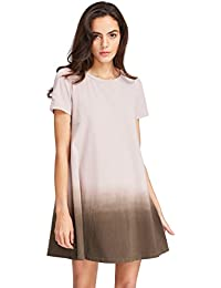 Women's Tunic Swing T-Shirt Dress Short Sleeve Tie Dye...