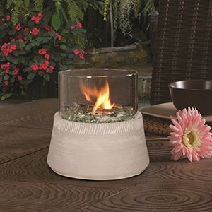 Bancroft Tabletop Fire Bowl — White (Bowl Torch)