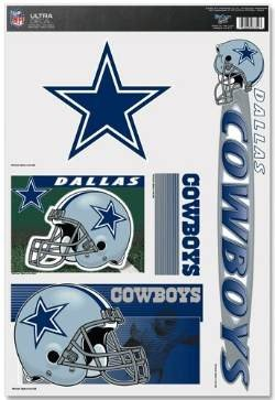 Dallas Cowboys SET OF 5 ULTRA DECALS Removable & Reusable NFL Window Decals ()