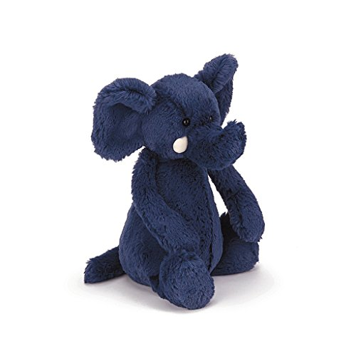 Jellycat Bashful Blue Elephant, Medium – 12 inches