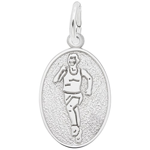 Female Runner Charm In 14k White Gold, Charms for Bracelets and Necklaces (14k Charm Gold Runner)