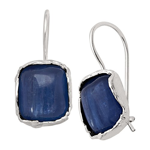 Silpada 'Cubic Square' 6 1/5 ct Natural Kyanite Drop Earrings in Sterling Silver