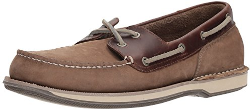 Taupe Nubuck Footwear - Rockport Men's Perth Shoe, Taupe Nubuck/Beeswax Leather, 10.5 M US