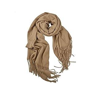 Women's Winter Super Large Pashmina Long Pure Color Cashmere Wraps Shawl Super Soft Warm Scarf