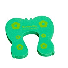 Cartoon Baby Infant Safety Door Doorstop Prevent Nipping Hand(Green Butterfly)